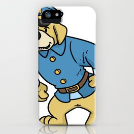police policeman officer gift security guard law iPhone Case