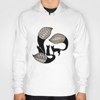foxes Hoodies featuring Foxes by Alexandra Boman