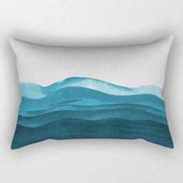 Ocean waves paint Rectangular Pillow