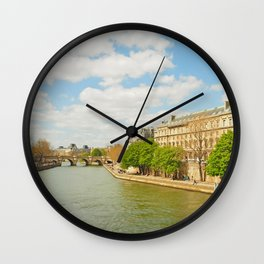 The River Seine Wall Clock
