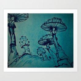 Mushroom Garden Art Print