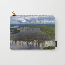 Victoria Falls with Rainbow, Zambia and Zimbabwe, Africa Carry-All Pouch