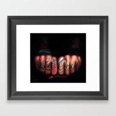 Live Once Framed Art Print