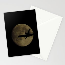 Fly by the moon Stationery Cards