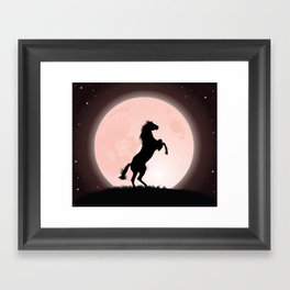 Moon Rider Framed Art Print