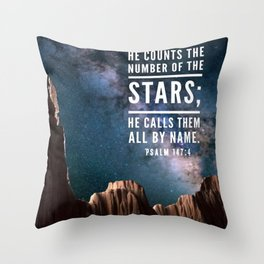 Counts the stars Throw Pillow