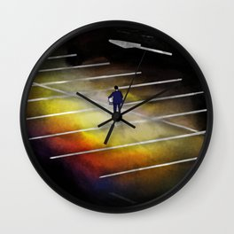 Lost in the Lot Wall Clock