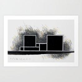 The city of black squares 2 Art Print
