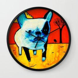 Somber Dog Wall Clock