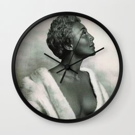 African American Masterpiece 'Joyce Bryant' The Voice You Will Always Remember portrait painting Wall Clock