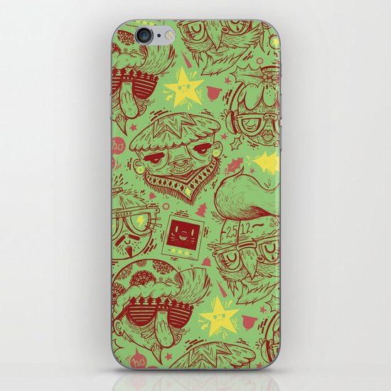 Have a Hipster Christmas! iPhone & iPod Skin
