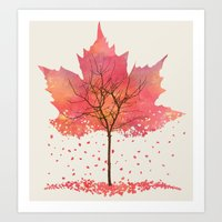 fall Art Prints featuring Fall by Dan Hess