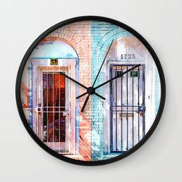 Twin Doors In Washington - For Doors & Travel Lovers Wall Clock