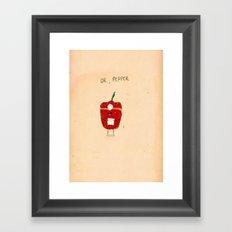Dr. Pepper Framed Art Print