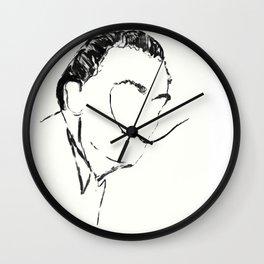 The portrait of Salvador Wall Clock