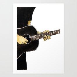 Guitar Playing Man Art Print