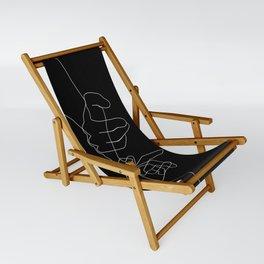 Black Pinky Swear Sling Chair