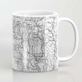 Vintage Map of Mississippi (1853) BW Coffee Mug