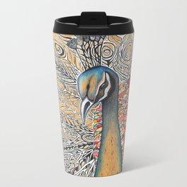 Peacock Memory Metal Travel Mug