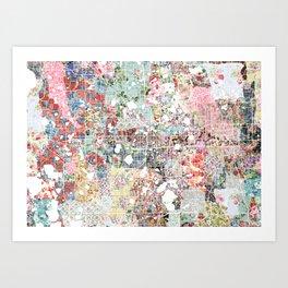 Orlando map landscape Art Print