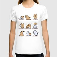 pomeranian T-shirts featuring Pomeranian yoga by Huebucket