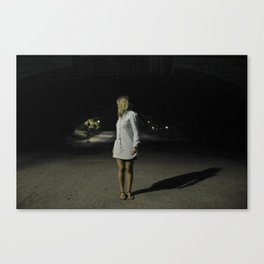 A night in Central Park Canvas Print