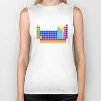 periodic table Biker Tanks featuring PERIODIC TABLE OF ELEMENTS by darlthedreamer
