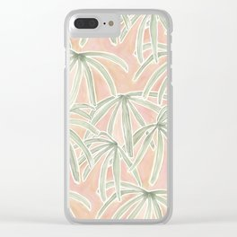 Boho Palms Clear iPhone Case