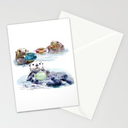 The Otter's Tea Stationery Cards