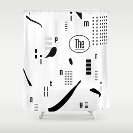 The Imprinting Shower Curtain