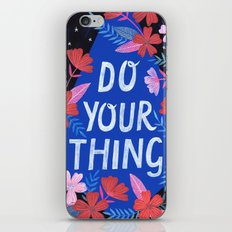 Do Your Thing - Blue iPhone & iPod Skin