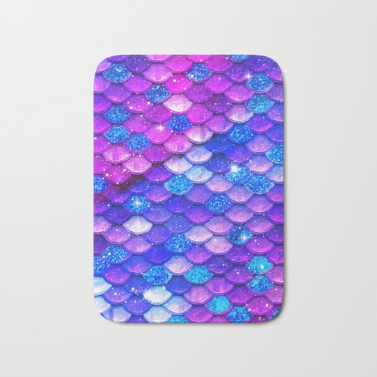 Mermaid Bubblegum Scales Bath Mat