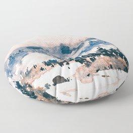 Watercolor Pine Trees Floor Pillow