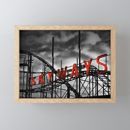 SKYWAYS Roller Coaster Framed Mini Art Print