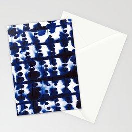 Parallel Indigo Stationery Cards