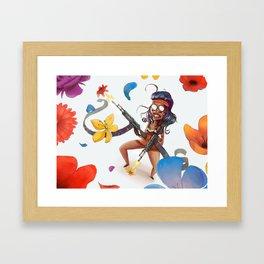 flower power motherfocker Framed Art Print