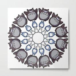 Anime Mandala Metal Print