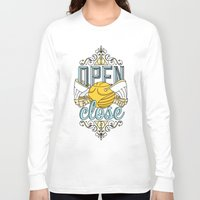 snape Long Sleeve T-shirts featuring Harry Potter – I Open At The Close by Aaron Sales