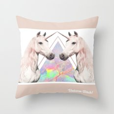 UNICORN BITCH! Throw Pillow