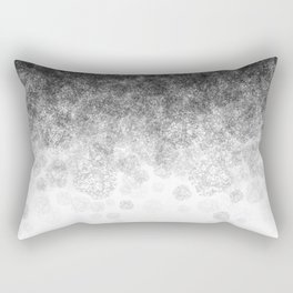Disappearing Fog - Black and White Gradient Rectangular Pillow