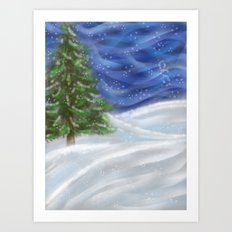Tree & Snow Art Print
