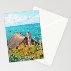 Claude Monet The Cabin At Saint-Adresse Stationery Cards