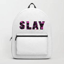 Slay Floral Font Backpack