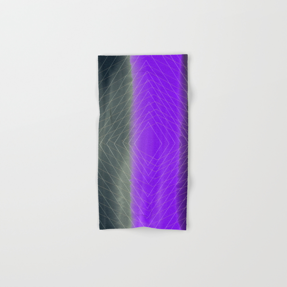 Diamond Effect Hand Towel by Digitalcanvas BTL8381112