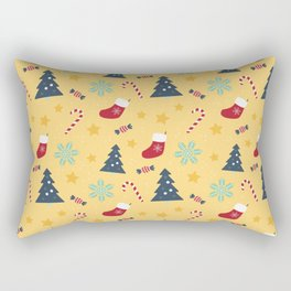 It's Christmas Time Colourful Pattern VI Rectangular Pillow