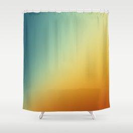 Gradient Colours: Orange Blue Shower Curtain