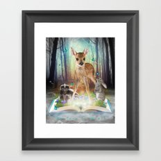 Believe In Magic • (Bambi Forest Friends Come to Life) Framed Art Print