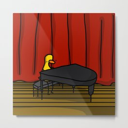 Ducky Pianist | Veronica Nagorny Metal Print