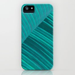 Banana Leaf Abstract iPhone Case