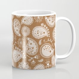 Hedgehog Paisley_Moka Coffee Mug
